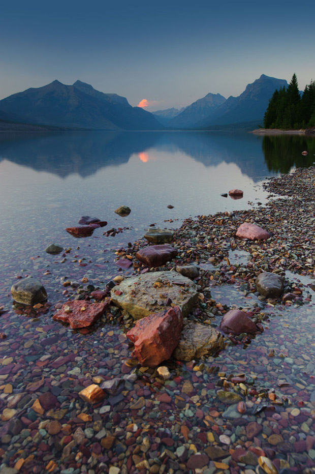 Beautiful Rocks at Lake McDonald, Glacier National Park, MT
