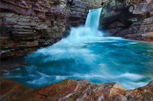 St. Mary's Falls in Glacier National Park, MT