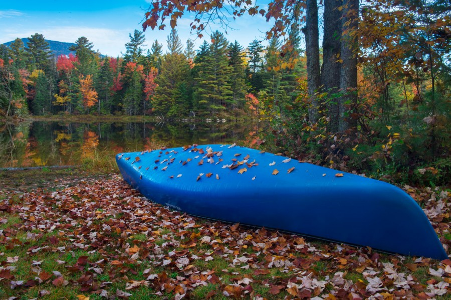 Blue Canoe at Lake Durant Campground