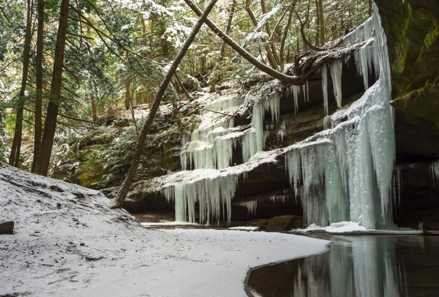 Snow and Ice at Old Man's Cave