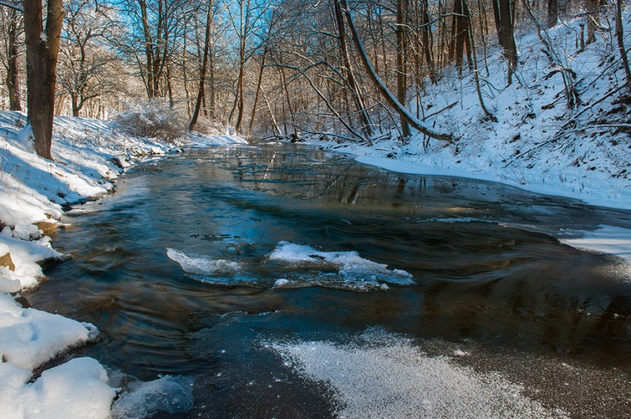 Sunshine After the Snow on Mingo Creek